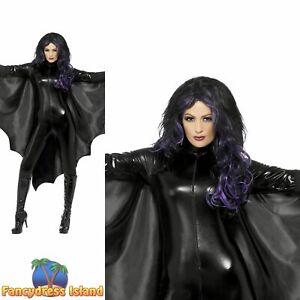 Vampire-Bat-Wings-Haloween-Cape-Spooky-Adults-Womens-Ladies-Fancy-Dress-Costume