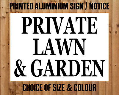 Private Lawn Garden Metal Sign Notice Keep Out Gardens Property Trespassing Ebay