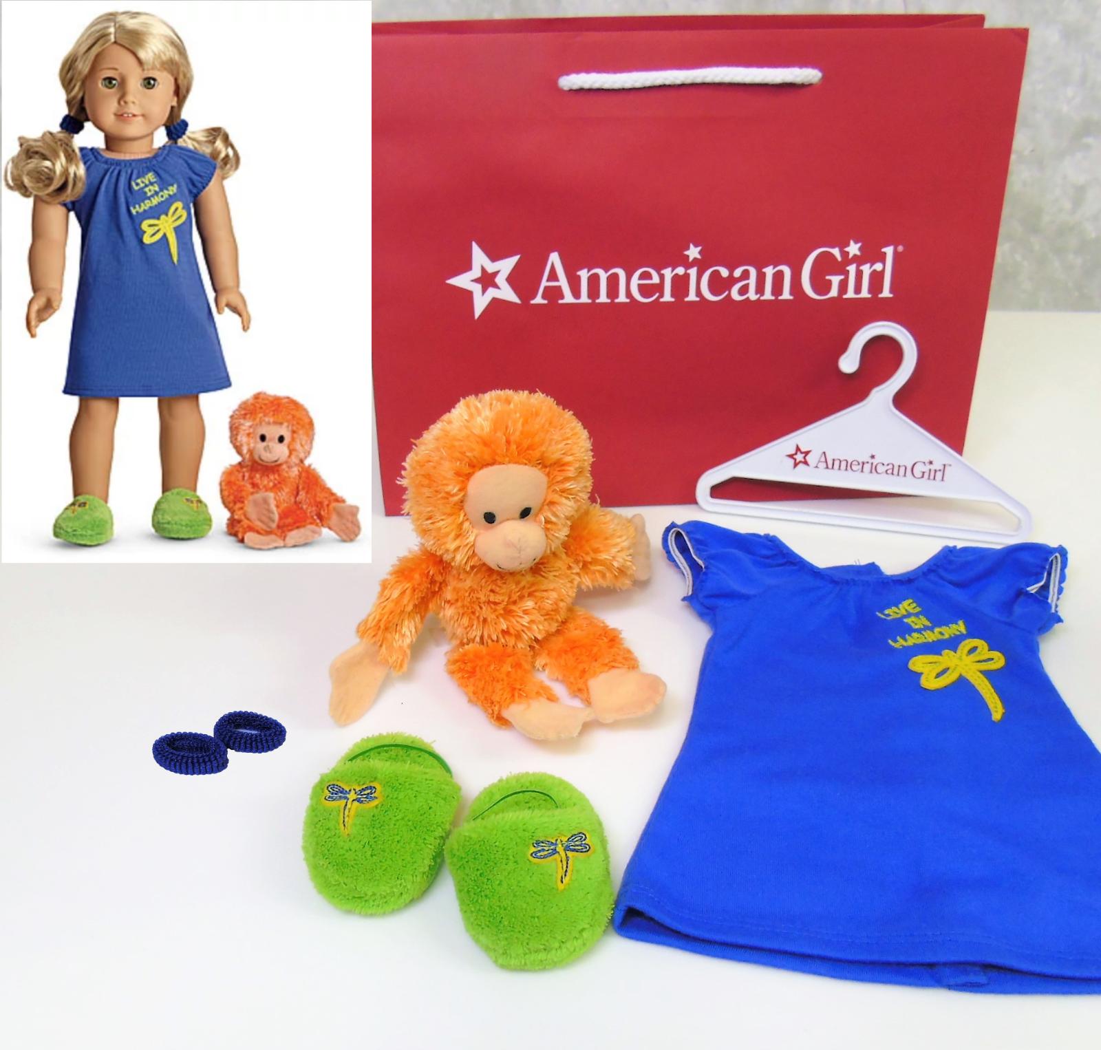 American Girl Girl Girl Puppe LANIE'S Nachthemd & Orang Utan Schlafanzug Affe Plüsch 623376