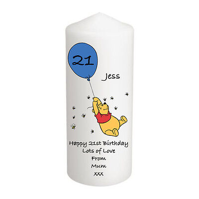 Personalised Piglett 18th 21st 30 40 50 Birthday Candle Gift Daughter Mum LARGE