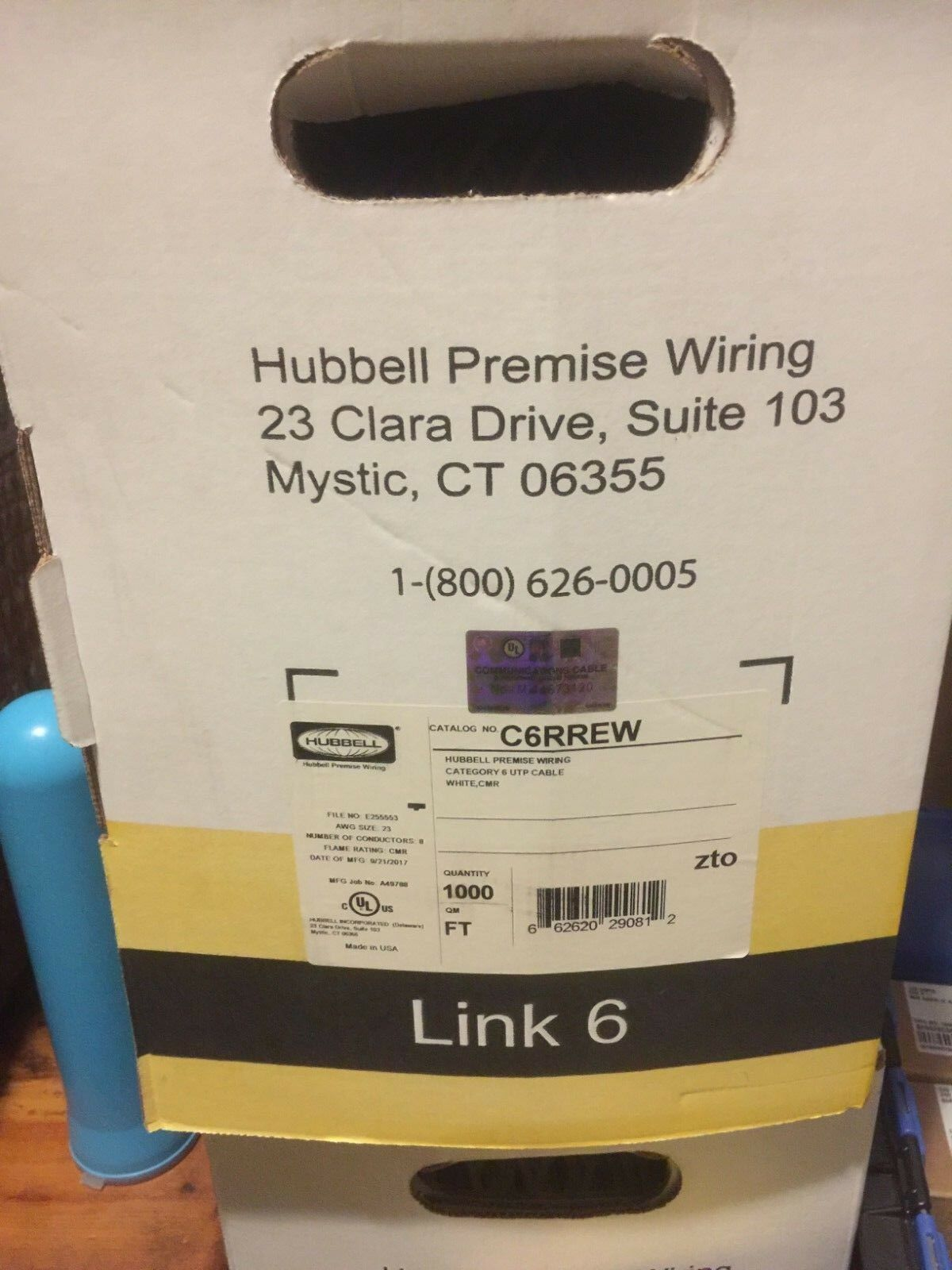 Hubbell C6rrew Premise Wiring Cable Cat 6 Utp White Cmr 1000 Ebay Norton Secured Powered By Verisign