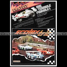 SCALEXTRIC MECCANO 1975 CIRCUIT SLOT CAR RACING VINTAGE Pub Publicité Ad #A1558