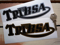 TRIBSA Motorcycle STICKERS 115mm Pair Classic Bike Triumph BSA Bonneville A10 +