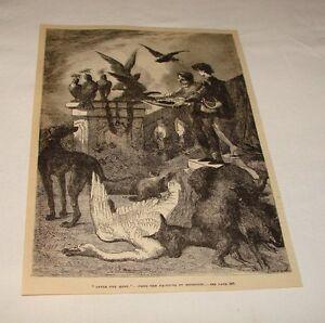 1876-Revista-Grabado-Despues-la-Falconing-Caza