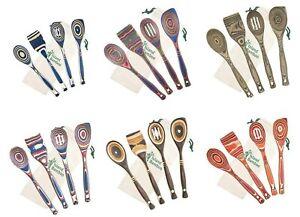Island Bamboo 4 Piece Pakka Wooden Utensil Set Kitchen Spoons Cooking Tools Ebay