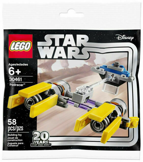 LEGO 30461 Star Wars 20 Years 20th Anniversary Podracer Polybag 58pcs New