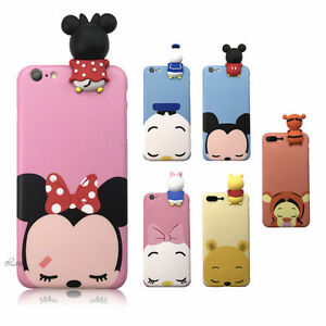 new style da0b8 b7a04 Details about New 3D Cute Disney Cartoon Dolls Gift Soft Silicone Phone  Case Cover For iPhone