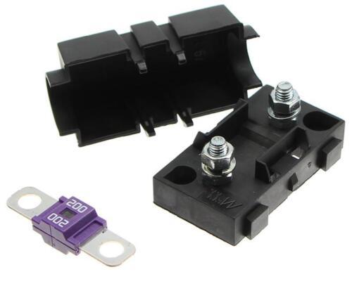 200A SET Sicherungshalter mit Sicherung Schraubsicherung Kompatibel mit MIDI