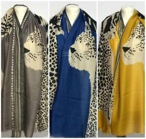 Leopard-Print-Women-Scarfs-Shawl-Pashmina-Stole-Blanket-Wrap-Animal-tiger-print
