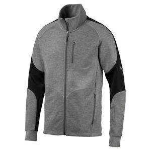 Puma-Mens-Evostripe-Jacket-Jumper-Sweatshirt-Training-Jacket-580095-03-Grey