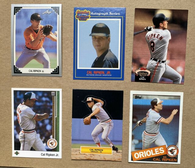 CAL RIPKEN JR lot (6) Baseball Cards. Baltimore Orioles Leaf, UD, Stadium Club