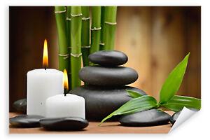 Postereck-3020-Poster-amp-Leinwand-Wellness-Kerze-Entspannung-Bambus-Relax