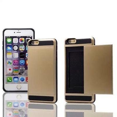 NEW Card pocket ShockProof Slim Hybrid wallet case cover for iPhone 6 6 Plus