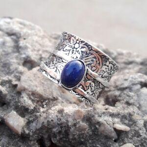 Lapis-Lazuli-Solid-925-Sterling-Silver-Spinner-Ring-Meditation-Ring-Size-sr-001