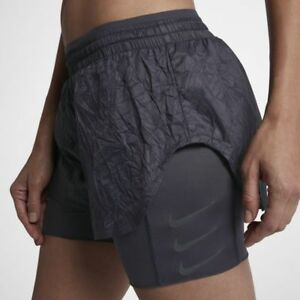 New Running Elevate Shorts S nero 1 In 2 Nike Women's Size xwA7Fx
