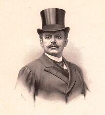 Portrait Jan Mieczysław Reszke Varsovie Opera Pologne Ténor