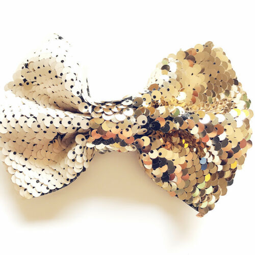 Baby Girls Kids Sparkling Large Bow Hair Clip Pin Alligator Clips Cute Glitter