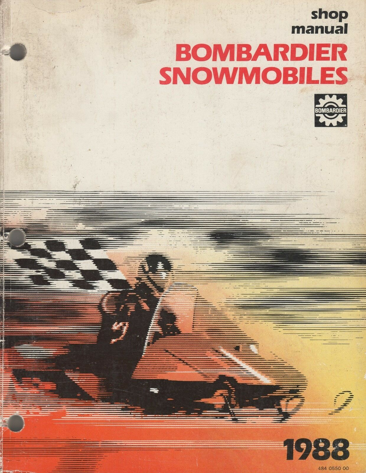 1988 BOMBARDIER SNOWMOBILE SHOP MANUAL 484 0550 00 (145)