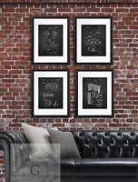 Ice Hockey Posters Set Of 4 Unframed Boys Room Decor Chalkboard Art Prints