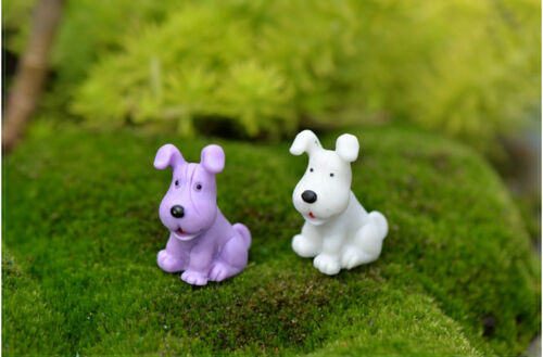 Mini 6pcs BigEar Dog Miniature Garden Yard Lawn Ornament Decoration Figurine DIY