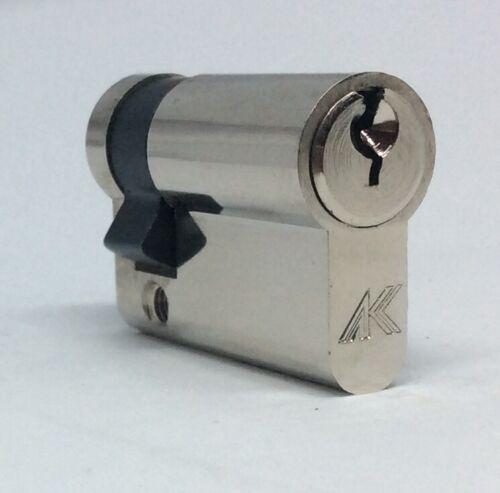 Half Cylinder BS1303 6 Pin cylinder Garage Door Single Euro Cylinder 35//10