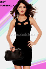 Dress Woman Elegant Sexy Little Ceremony Evening Rectangles Boat Neck Dark