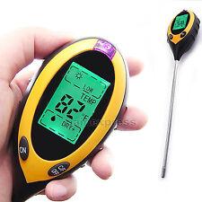 4 en1 Medidor de pH y Humedad del Suelo Termómetro Temperatura Luz Metro °C °F