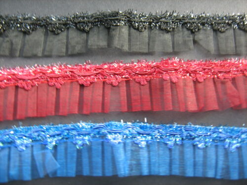 Sparkle Organza Box Pleat Trim Various Colours  Sewing//Crafts//Costume
