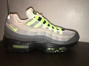 online store e74d7 4bf4e Image is loading Nike-Air-Max-95-Patch-Og-Neon-Size-