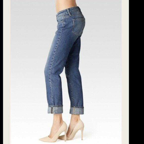 PAIGE Denim PORTER Mid Rise Boyfriend Straight Leg Jeans Size 25
