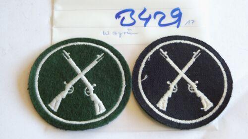Schützen Armabzeichen Waffenwart weiß auf grün 2 Stück je2,50 B429+