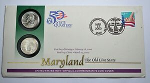 Image Is Loading 2000 First Day Coin Card Maryland P Amp