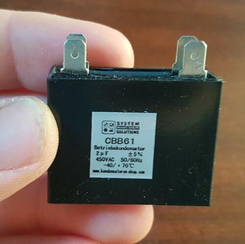 Exploitation Condensateur 50//60hz 2uf//µf cbb61 450 VAC avec 4 steckanschlüssen