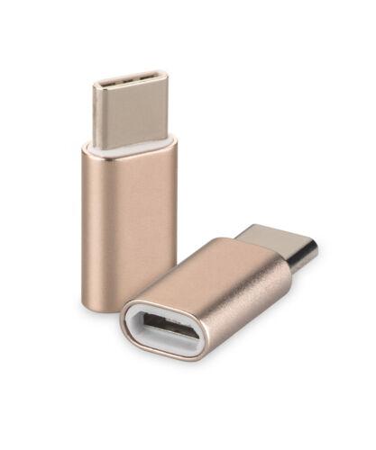 USB 3.1 tipo-C a micro USB ADAPTER oro f huawei mate 10 Porsche Design Type C