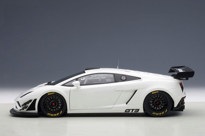 2013 LAMBORGHINI GALLARDO GT3 GT3 GT3 FL2 bianca  1:18 by AUTOART  81358 BRAND NEW IN BOX 410bd5
