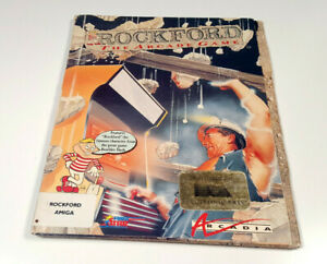 Rockford-the-Arcade-Game-by-Arcadia-1988-Amiga-DISK-VG-OVP-Boxed-Big-Box-sgZ