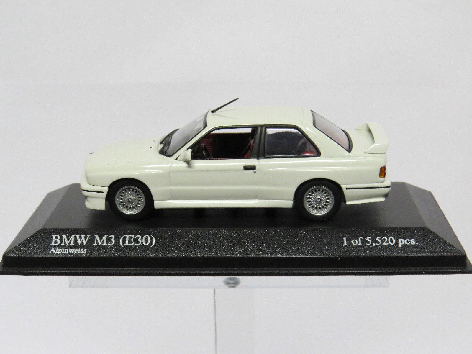 Bmw m3 (e30) 1987 alpinweiss 1   43 430020304 minichamps.