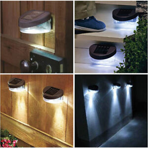 6-x-Outdoor-LED-Garden-Fence-Wall-Patio-Path-Door-Solar-Powered-Lights-Lighting