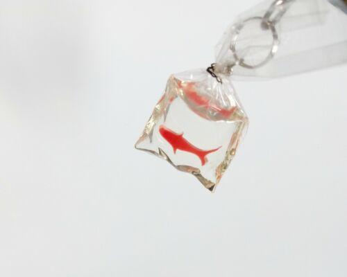 Goldfish Keychain résine métal clair Fair Sac Cadeau Craft prix 8 cm Unique