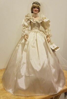 Franklin Mint Princess Diana Doll Porcelain Wedding Bride Doll Ebay