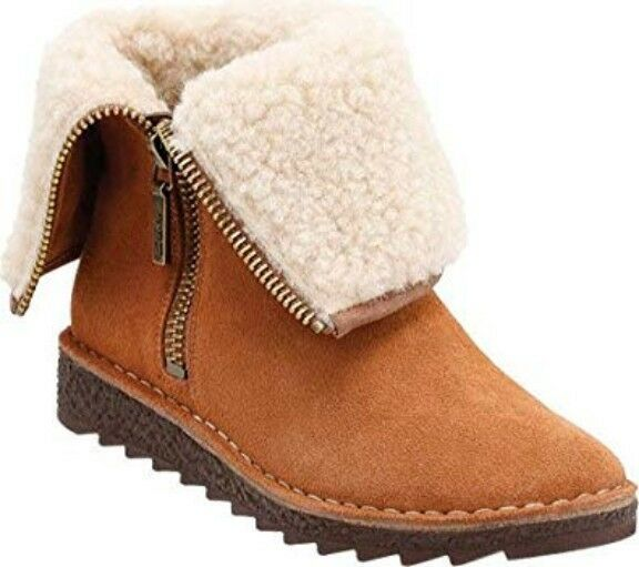 Clarks Ladies Real Wool Ankle Boots OLSO BETH Tan Suede   38