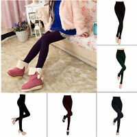 Women's Thick Warm Fleece lined Fur Winter Tight Pencil Leggings Sexy Pants