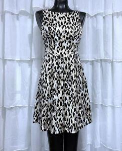 Size-2-WHITE-HOUSE-BLACK-MARKET-Leopard-Animal-Print-Dress