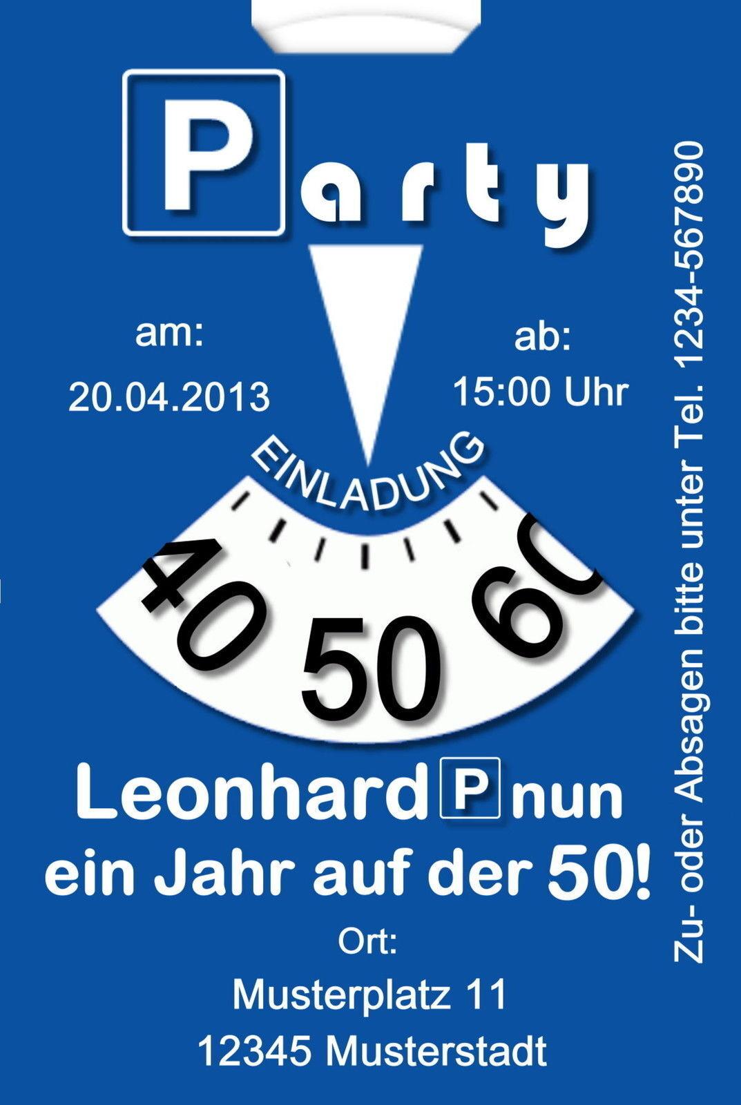 50 witzige Einladungskarten Geburtstag Einladungen jedes jedes jedes Alter möglich Party 77d1a3