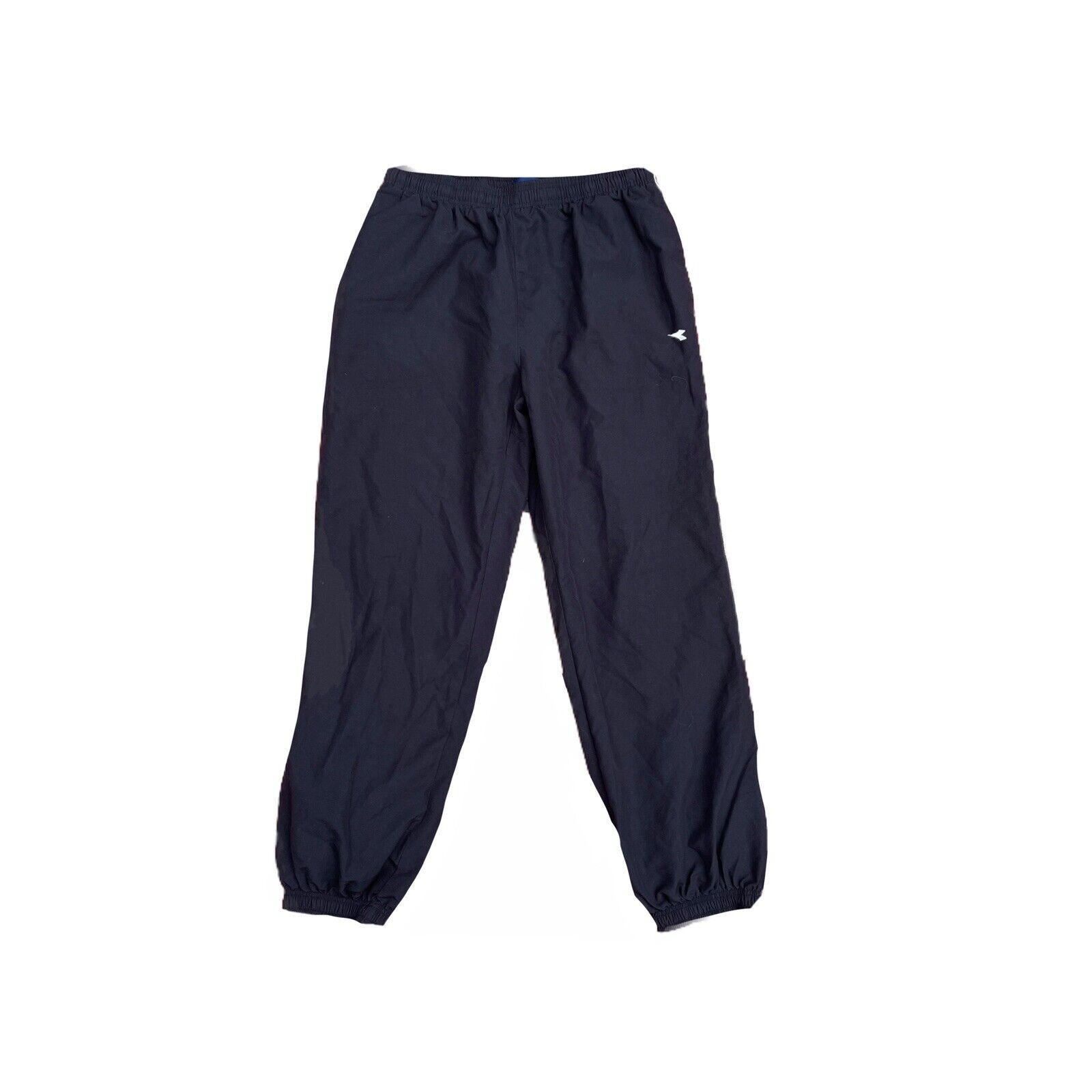 Diadora Black Blue Sweatpants Joggers Size XL