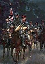 Stonewall Jackson and Staff, On Horseback, Horse --- Military Civil War Postcard