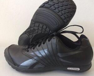 0f2cf5a53e9d61 Reebok Slimtone Chic Womens Trainer Leather Shoe Black UK 4.5 J87787 ...