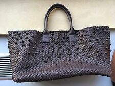 Bottega Veneta brown taupe knot cabat large bag tote limited edition sold out