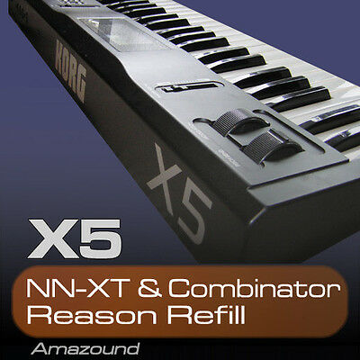 KORG X5 REASON REFILL 100 NNXT & COMBINATOR PATCHES 1212 SAMPLES 24BIT MAC PC