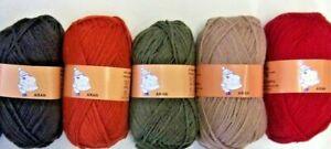 Woolyhippo-Aran-Knitting-Yarn-Acrylic-Wool-Nylon-Mix-100g-Soft-Crochet-Craft